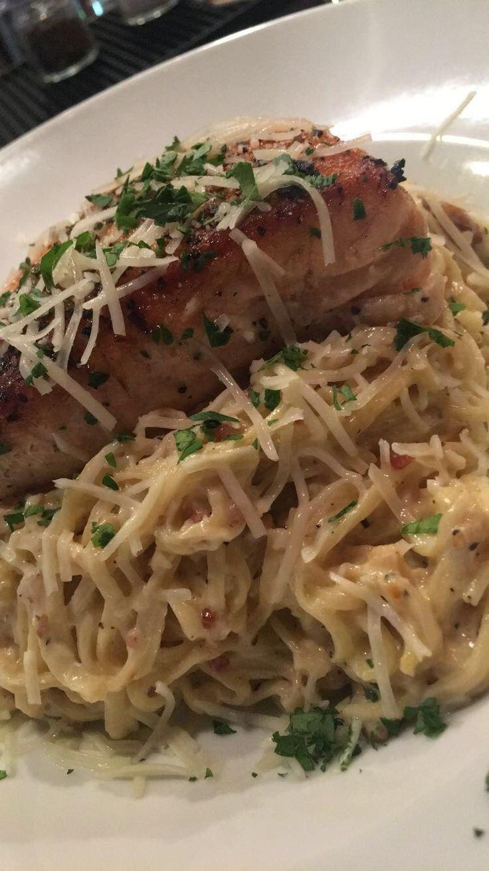 Salmon Spaghetti cabonara #pasta #salmon #cabonara  #foodie #spaghetti