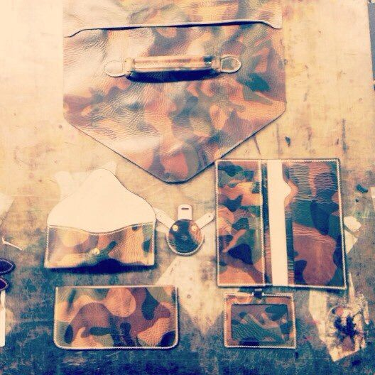 Camo Buttero leather pieces from Custom Republic.