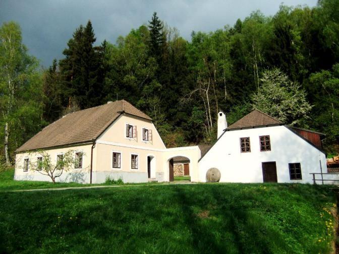 Buškův hamr / water mill - folk architecture of South Bohemia, Czechia