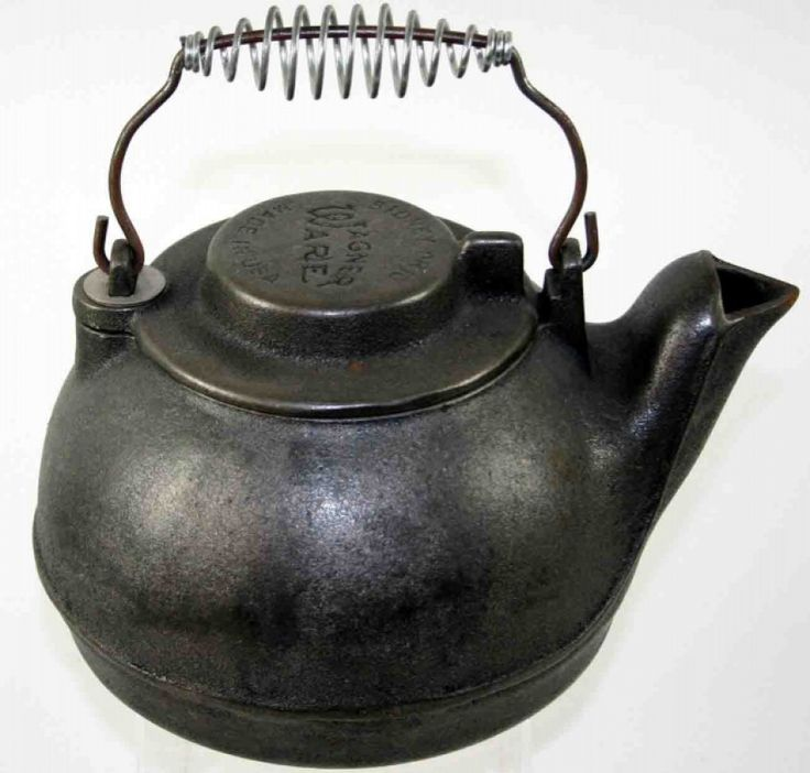 12: Cast Iron Tea Kettle, Stamped Wagner Ware Sidney Oh - 194 Best Images About Wood Stoves On Pinterest Old Stove