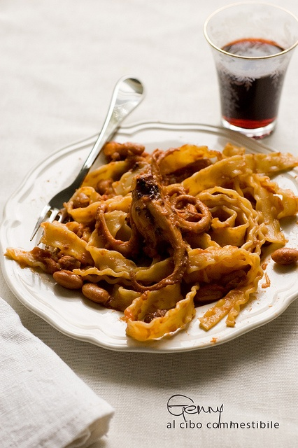 pasta moscardini, melanzane e fagioli freschi              #recipe #juliesoissons