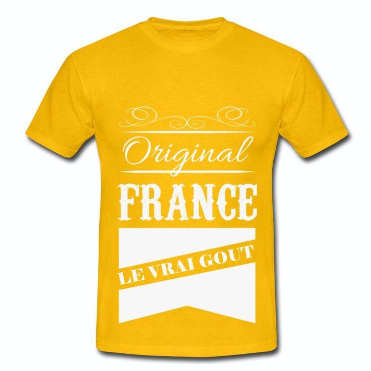 Tee Shirt Jaune Original France Le vrai gout