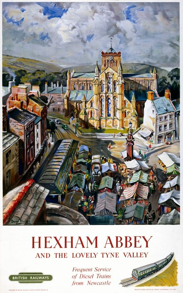 Hexham Abbey, Tyne Valley Art Print