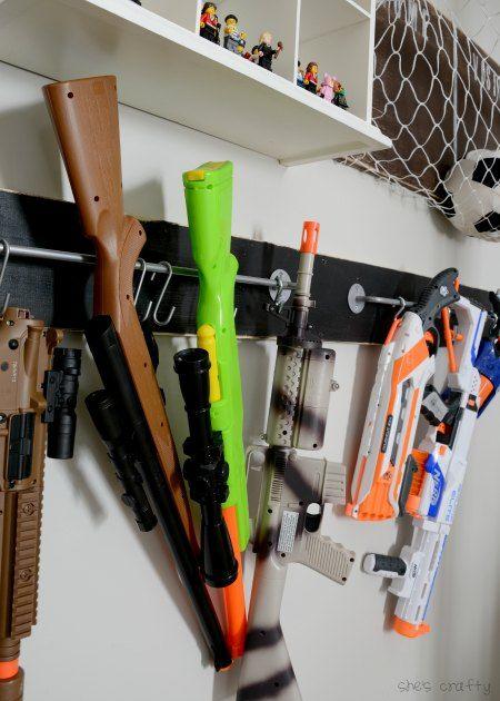 Boys room: Nerf Storage