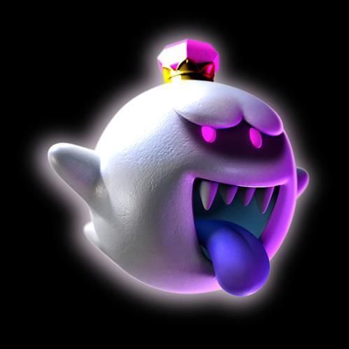 King Boo, Look! his smiling at you from the official artwork set for #LuigisMansion 2 Dark Moon on Nintendo #3DS. #Luigi http://www.superluigibros.com/luigis-mansion-2