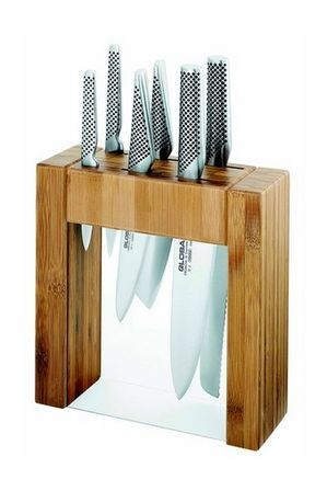 Sometimes a chef is only as good as their knife, so why not try the GLOBAL Ikasu Knife Block 6 Piece set? Each knife is made from cromova 18 high carbon stainless steel. Through whatever meal you create these knives will remain razor sharp. Whether you're slicing through a solid as a rock pumpkin or meticulously preparing fruits for garnishes these knives will get the job done. Resistant to rust, stains, and corrosion, you'll be proud to put these out on display in //found this via…
