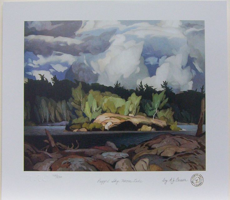 AJ Casson member of The Group of Seven painting Ragged Sky Mouse Lake