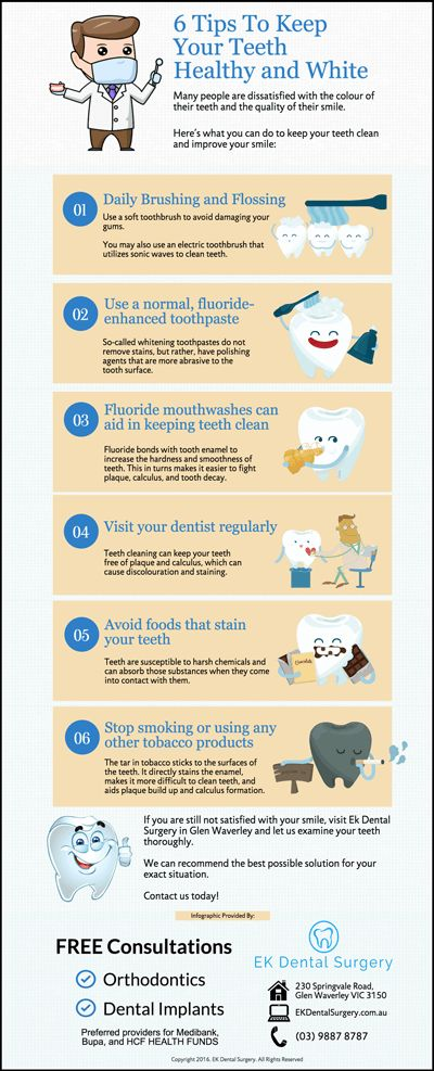 6 Tips To Keep Your Teeth Healthy and White ekdentalsurgery.com.au