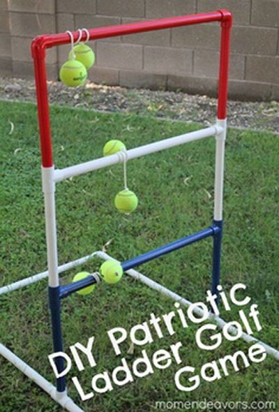 DIY Patriotic Ladder Game  http://thegardeningcook.com/fourth-of-july-diy-home-projects/