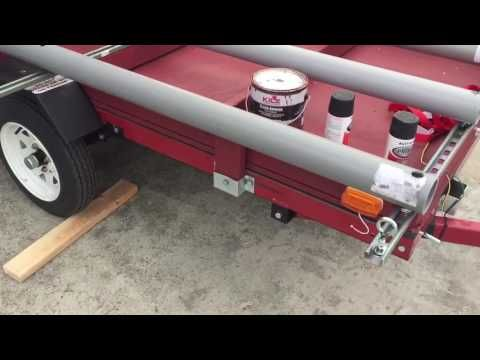 Finished Harbor Freight Double Kayak Trailer Conversion - YouTube