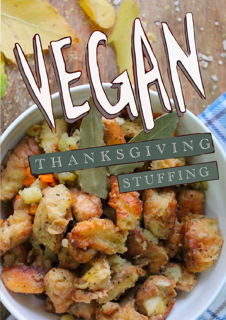 No Turkey Füllung ist einfach, gesund und vegan. Perfekt für Thanksgiving und Chri …