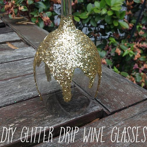 DIY Glitter Drip Wine Glasses! Instructions below:[[MORE]]Who doesn't love wine! These glasses are perfect for the Wine Mom in us all and work great as party favors! The first time I made mine, I made them for my sister's bachelorette party because we did Painting with a Twist (basically you drink wine and paint). These glasses are super easy to make and add a little glam to your Wine Wednesday's! Supplies: Wine Glasses (1 or however many you want to make)Glitter (You can use one color of…