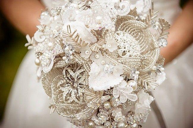 Heirloom Bouquets: Button, Brooch & Fabric Bouquets | Confetti Daydreams