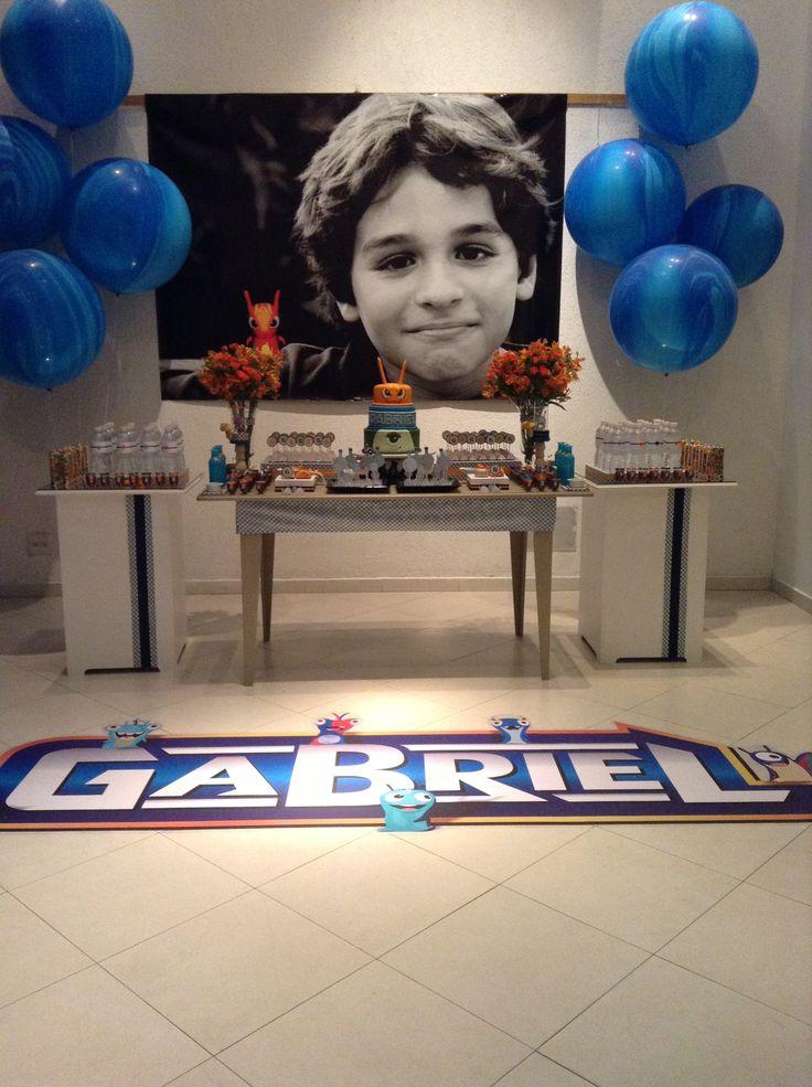 Slugterra - balloongerie party design - festa infantil - slugterrâneo - azul