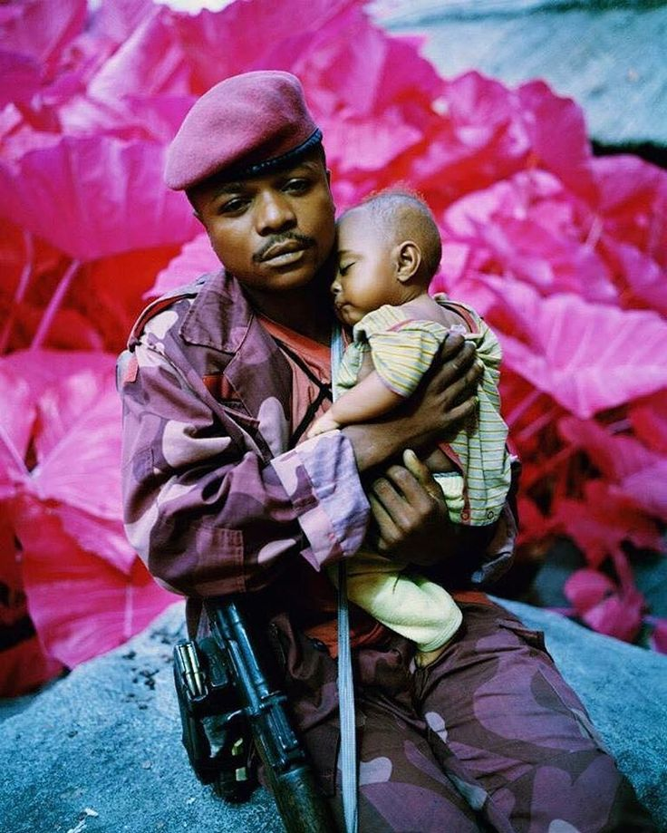 Infrared by photographer Richard Mosse 'Madonna and Child', North Kivu, eastern Congo, 2012