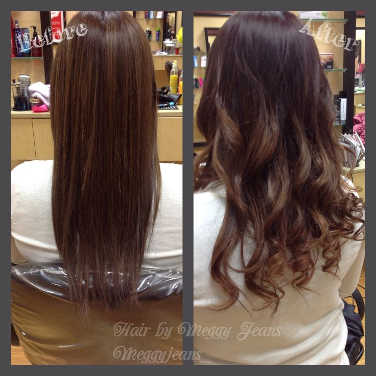 Before and after brunette to caramel ombre melt #ombre #Colourmelt #Sombre #brown #Caramel