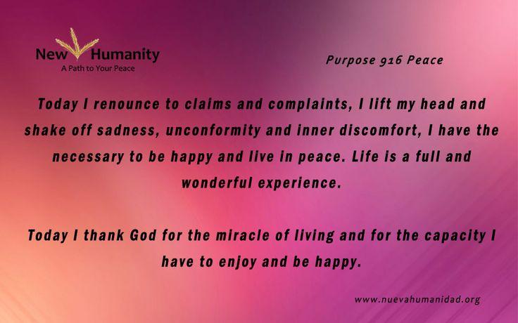 Purpose 916 Peace