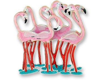 Pink Flamingo Jewelry Pin