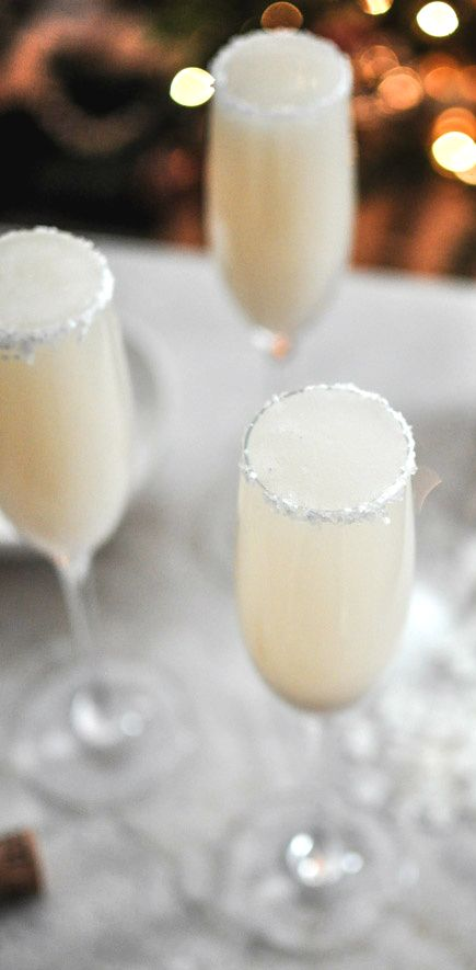 Wedding Signature Drink coconut vanilla Bellini -- sounds dangerously delicious!