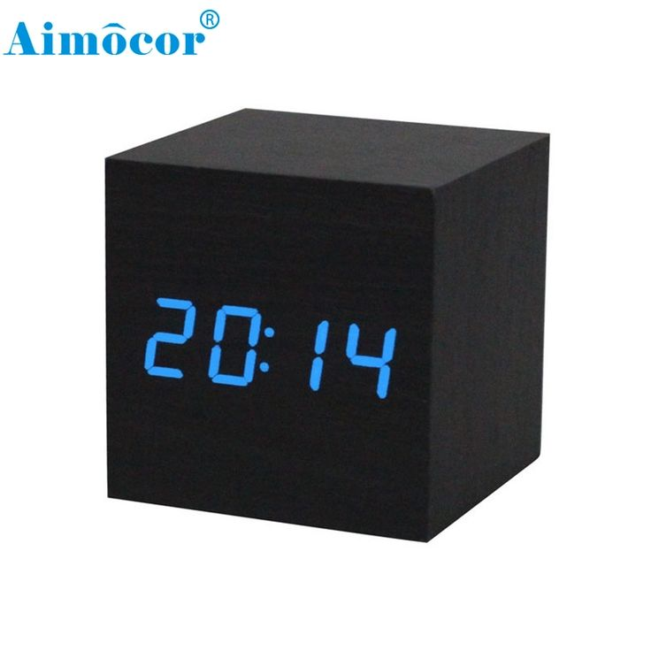 Home Wider Hot New 1PC Digital LED Black Wooden Wood Desk Alarm Brown Clock Voice Control Free Shipping High Quality Dec4 * Be sure to check out this helpful article. #HomeDecor