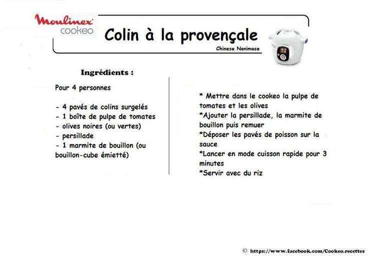 colin à la provencale | recette cookeo | pinterest | la provencale