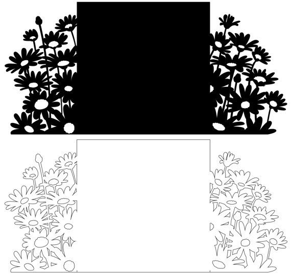 Summer Daisies Gate Card A project for making a by CraftyVectors
