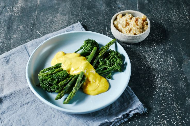 DANI VALENT COOKING - Miso Hollandaise  I caught up with chef Sean Connolly and came away with a really simple but totally delicious spin on hollandaise. I serve it with greens but it's also fab with steak. Sign up for more fabulous recipes and video demos at www.danivalentcooking.com Also check out Dani's new Thermomix book and chip, Entertaining with Dani Valent. #Thermomix #miso #hollandaise #misohollandaise #sauces #hollandaisesauce