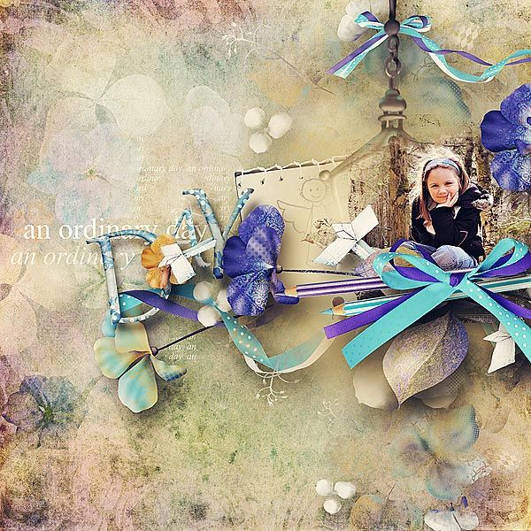 Blue Evenings and Paper Wings by sarahh graphics @ pickleberrypop