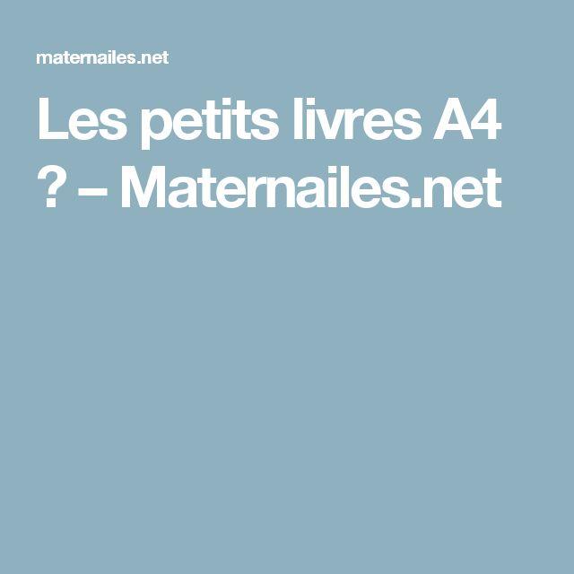 Les petits livres A4 ? – Maternailes.net