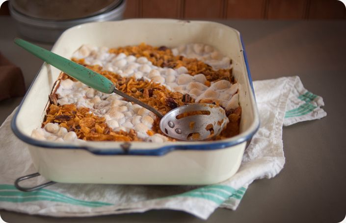 Traditional Sweet Potato Casserole with Marshmallow from Some Kitchen Stories