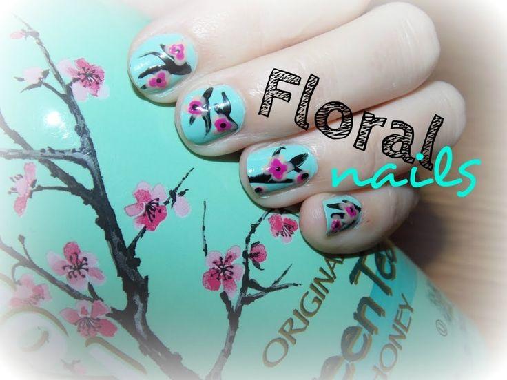 Tutorial: Květinové nehty / Floral nails