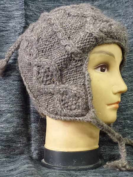 29a7f44a73c Cable knit natural Sherpa hat! Himalayan Handmades supply wholesale hippie  clothing!