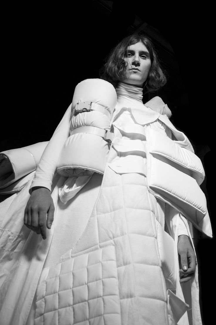 Conceptual Fashion - oversized quilted coat with integrated 3D objects; sculptural fashion // Paolina Alexandra Russo