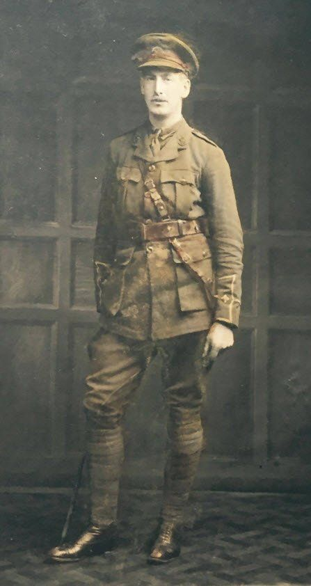 Henry Egerton Whitgreave, Killed in Action July 1, 1916. First day of the Battle of the Somme.
