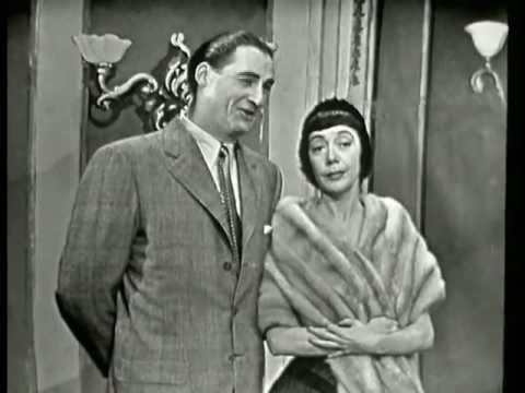 """Sid Caesar with Imogene Coca and Carl Reiner in """"Health Food Restaurant"""" sketch. Sid died today at 91. RIP."""