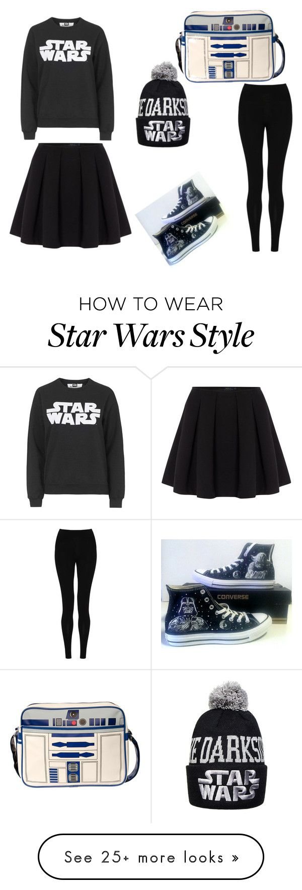 """Star Wars edition"" by acaswift on Polyvore featuring Tee and Cake, M&S Collection, Polo Ralph Lauren and Converse"