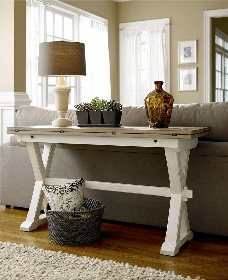 Versatile Console Table With A Fold Out Leaf Use As