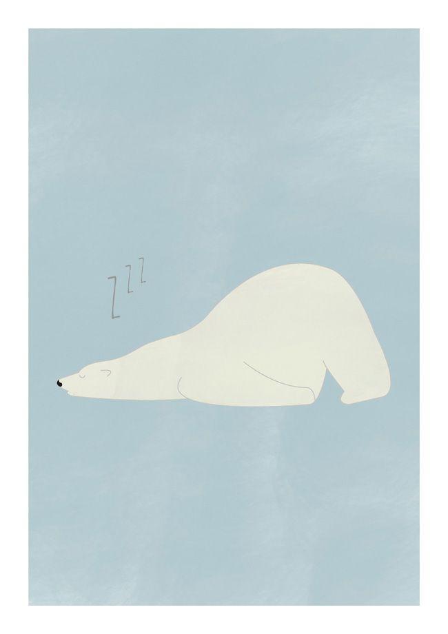 Poster Polar Bear | OHMYHOME