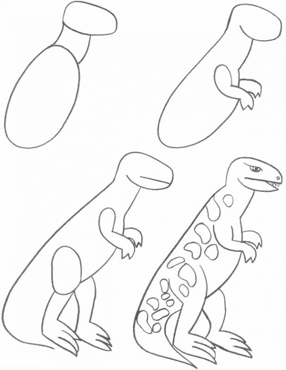 25 best ideas about how to draw dinosaurs on pinterest for Things to practice drawing