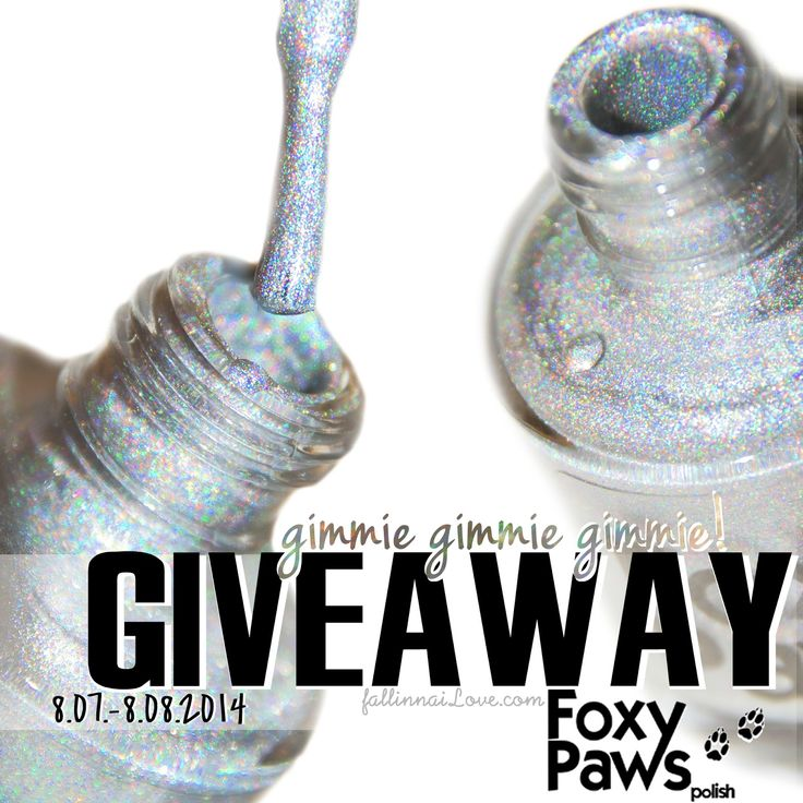 fall in ...naiLove!: GIVEAWAY: Foxy Paws Polish Gimmie! Gimmie! Gimmie!...