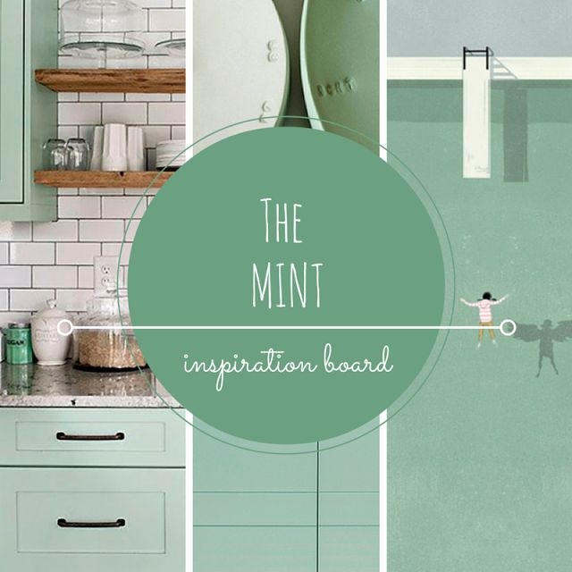 Mint color, mint inspiration, mint painting • the Round Button blog