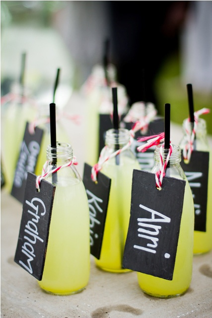 Welcome drinks with table numbers... Alternative seating arrangement!