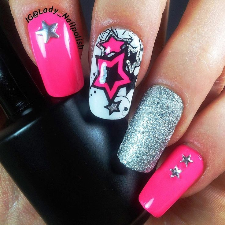79 best Star Nails images on Pinterest | Nail decorations, Nail ...