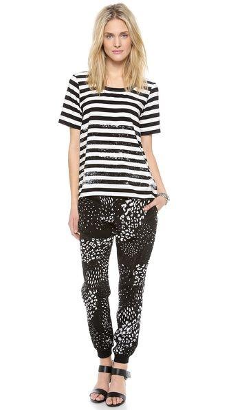 $325 retail Tibi Leopard Ditzy Jogging Pants