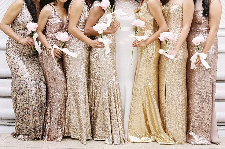 20 Metallic Bridesmaid Dresses To Add Sparkle To Your Wedding Party