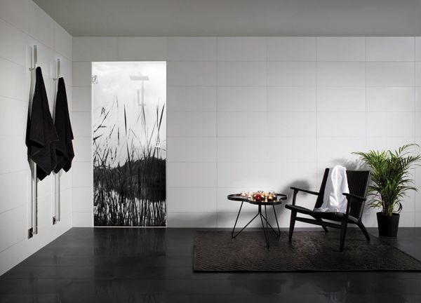 Osmankäämi – kaunein luonto kylpyhuoneessasi. #Sanka #suihkutila #lasiovi