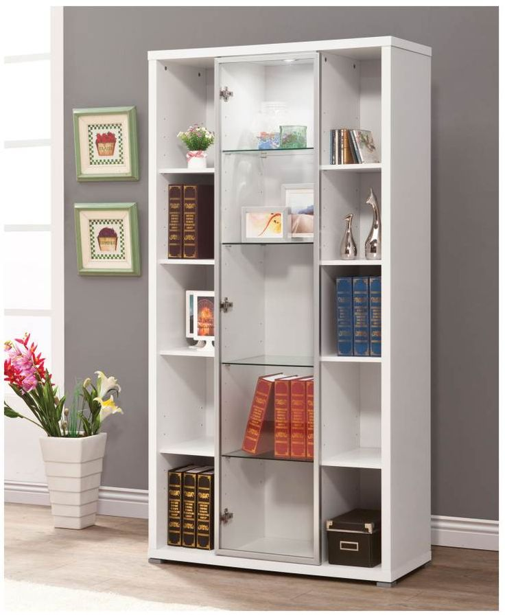 Coaster Accent Cabinets Lit Display Cabinet With Gl Door Front Fine Furniture