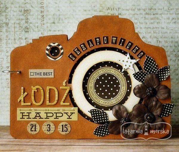 Camera album base - middle size  http://www.hurt.scrap.com.pl/baza-do-albumu-aparat-fotograficzny-20cm.html