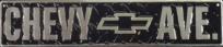 Chevy Avenue Emblem Metal Street Sign 5x24