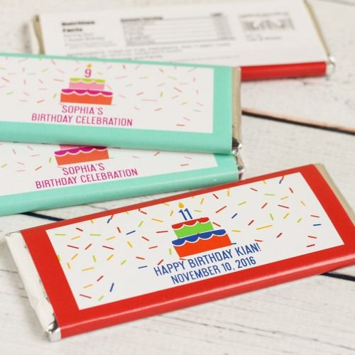 Personalized Birthday Cake Hershey's Chocolate Bars